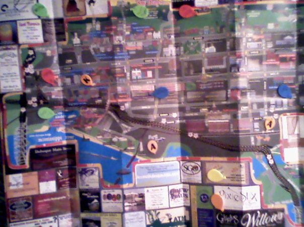 Downtown Dubuque, in all its mappy glory!