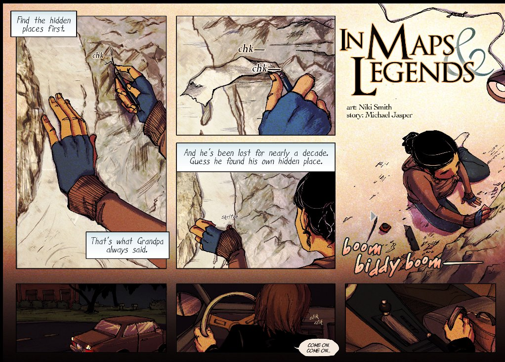 In Maps & Legends, page 1 (Zuda Comics)