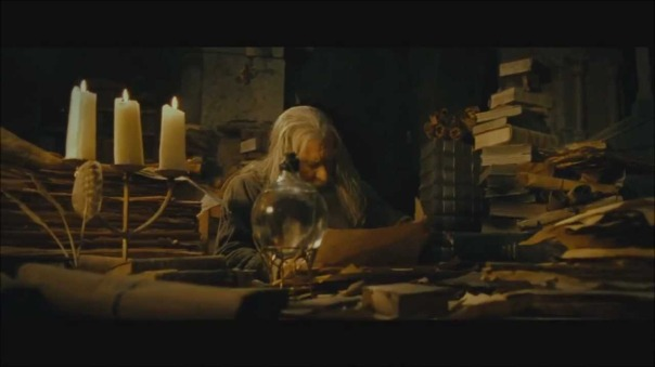 Gandalf looking for the DMs Guide...